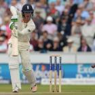 Keaton Jennings batting for England. Photo: Getty Images