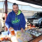 Marcus Tonga sells his pasta at the Otago Farmers' Market. Photo: Linda Robertson