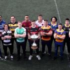 Representatives from 12 of the Mitre 10 Cup teams, plus the referees, at the season launch last...