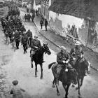 The Newfoundland Regiment marching back to their billets after an engagement at Monchy-le-Preux. ...