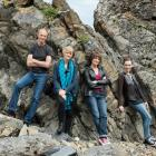 Looking after themselves is important to the New Zealand String Quartet (from left), Rolf...