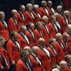 The Dunedin RSA Choir in fine voice perform Let us now Praise Famous Men, by Victor Galway during...