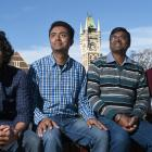 New Zealand Excellence Award recipients and University of Otago students (from left) Prabhat...