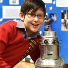 Isaac Randel (12), of Balmacewen Intermediate School, came up with the Rapbot - a robot which...