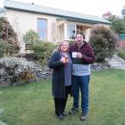 Linda and Casper Barnard raise a mug to their new house in Mornington. PHOTO: JOSHUA RIDDIFORD
