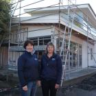 In with the new . . . SPCA Otago CEO Sophie McSkimming (left) and secretary Jan Clarke check out...