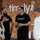 Wellington tech entrepreneurs (from left) Gareth Morgan Investments innovation director Kristen...