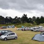 Freedom campers at Warrington Domain. Photo ODT