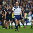 Wayne Barnes referees a Six Nations game earlier in the year. Photo: Getty Images