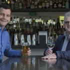 Act leader David Seymour enjoys a drink with his father, Breen, in Auckland. Photo: NZ Herald.