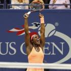 Sloane Stephens celebrates her win over Venus Williams. Photo Geoff Burke-USA TODAY