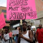 Marches are continuing in St. Louis after a not guilty verdict in the murder trial of a former...