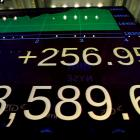 The Dow nJones Industrial Average at close of trading. Photo: Reuters