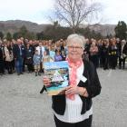 Nola Jelley and about 85 family members gather in Cromwell on Saturday. Photo: Jono Edwards.