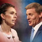 Labour leader Jacinda Ardern and National leader Bill English face off in another leaders debate...