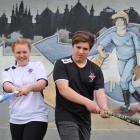 Otago national softball squad members  Kaitlyn Hastie and Callum Rowley at Ellis Park this week....