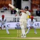 Ben Stokes bats for England in their recent test against the West Indies. Photo: Getty Images