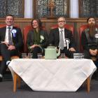 Dunedin North candidates (from left) David Clark (Labour), Michael Woodhouse (National), Niki...