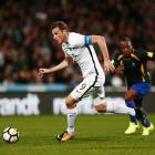 All Whites star Chris Wood in action against the Solomon Islands earlier this month. Photo: Getty...