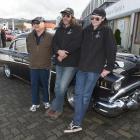 Derek (77), Mike (48), and Keri Wilson (19) (aka Gazza, Wazza and Bazza) pose with their 1957...