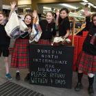 Dunedin North Intermediate pupils (from left) Ruairi O'Malley-King (11), Erin Cade (11), Jade...