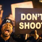 Protesters took to the streets following the acquittal of a St Louis police officer in the...