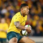Israel Folau bagged two tries for the Wallabies against Argentina. Photo Getty