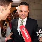 Green Party leader James Shaw is interviewed by media on Saturday night. The Greens will be...