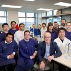 Members of a University of Otago microbiology research team, led by Prof Greg Cook, front row,...