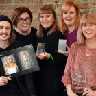 The TrendVision Awards New Zealand Salon Winner Zaibatsu Hair Art team (from left) apprentice...
