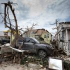 View of the aftermath of Hurricane Irma on Sint Maarten Dutch part of Saint Martin island in the...