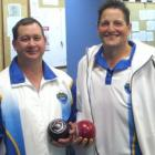 Weightless . . . Dunedin's Keri Rupene (left) and Marty Kreft  are already the winners of the...