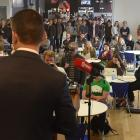Green Party leader James Shaw announces the party's tertiary policy at the University of Otago...