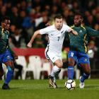 Kosta Barbarouses in action for the All Whites against the Solomon Islands. Photo: Getty Images