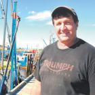 Mark Thomas with Wendy J, in the Greymouth port in 2013. Photos: Greymouth Star/Bob McAuliffe