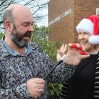 Clutha District Council waste minimisation officer Steve Clarke casts a spell on community...