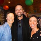 At the Gay Ski week opening were Gay Ski Week QT organisers Mandy (left) and Sally Whitewoods ...