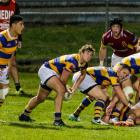 Bay of Plenty halfback Richard Judd clears the ball from a ruck during the team's win over...