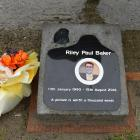 A memorial monument near SH 1 Shag Point for Riley Baker who was killed by a tourist driver....