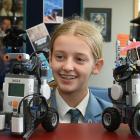 St Hilda's Collegiate pupils (from left) Anika Marriner (13), Lucienne Holtz (13), Sophie...