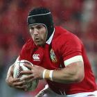 Sean O'Brien runs the ball for the Lions against the All Blacks. Photo: Getty Images