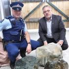 West Coast Police iwi liaison officer Shane Allen (left) and Ngati Waewae chairman Francois...