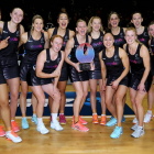 The Silver Ferns celebrate after defeating Australia to win the Quad Series. Photo:Getty Images