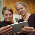 Using an iPhone, Luka Farquhar (left) and award-winning film-maker Josje Lelijveld review the six...