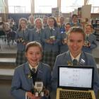 St Hilda's Collegiate School year 8 pupils Lucie Holtz (13, left) and Ella Hodgeson (12) show off...