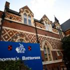 Thomas's Battersea, a private school attended by Prince George, is seen in southwest London....