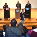 Dunedin Youth Council member George Sabonadiere speaks at the Dunedin Youth Debate at Otago Boys'...