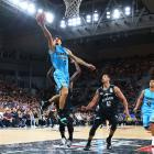Shea Ili of the Breakers controls the ball during the round three NBL match between Melbourne...