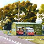 An artist's impression of the proposed cable car display building in Mornington. Image: Supplied