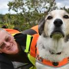 LandSAR volunteer Dermot Mayock and his dog, Fin, who has retired after years of search and...